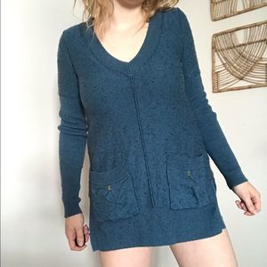 Free People wool blend pocketed v-neck sweater